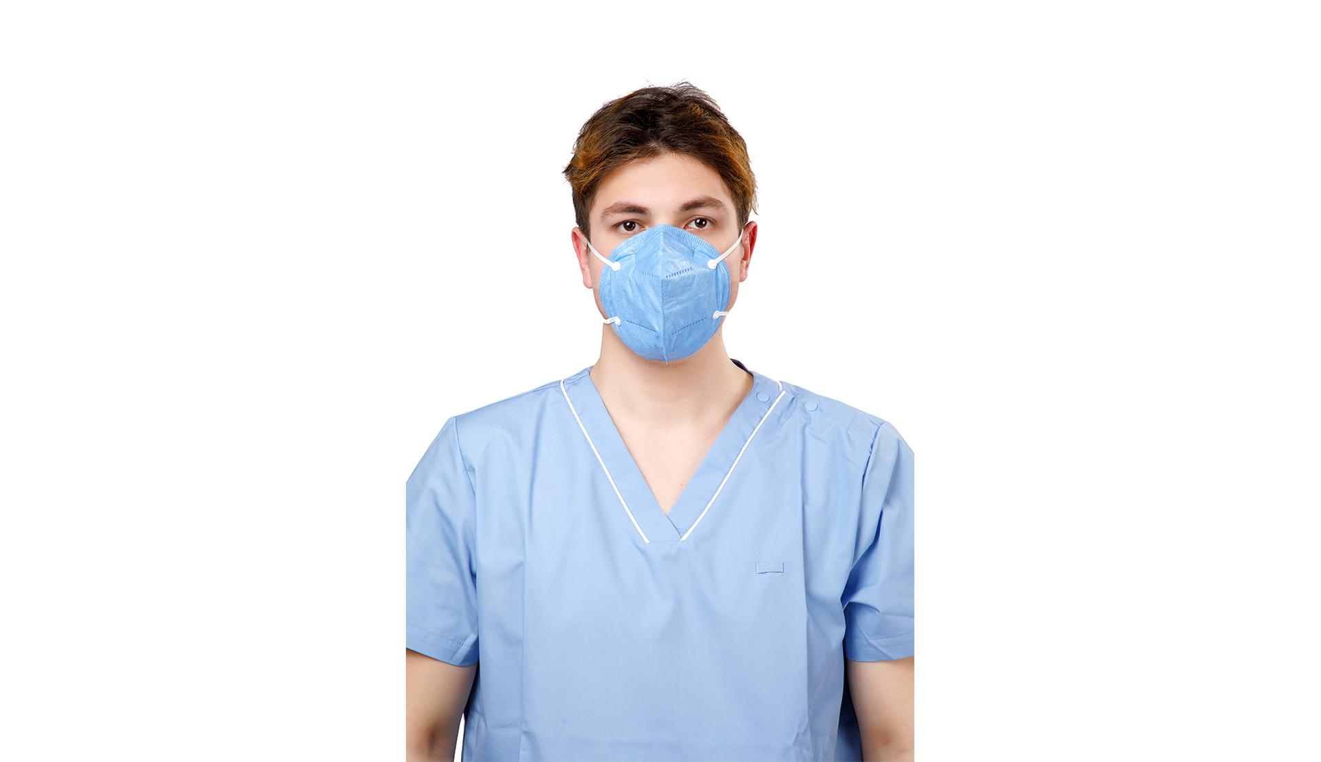 Masques respiratoires à pli plat N95 avec boucles d'oreille